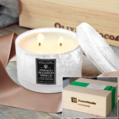TD Ameritrade Institutional Bourbon Vanilla Candle
