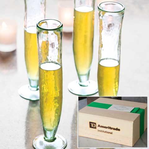 TD Ameritrade Institutional Delancy Champagne Flutes Set Of 2
