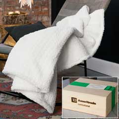 TD Ameritrade Institutional Snowy Luxe Winter Throw