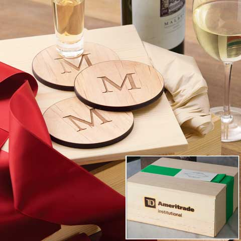TD Ameritrade Institutional Personalized Wood Coasters