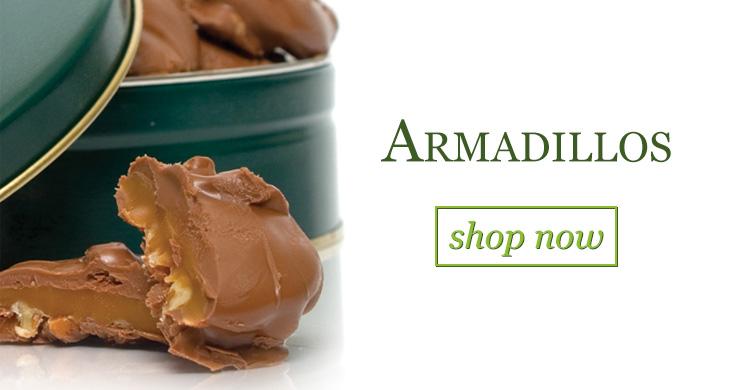 Armadillos Chocolate & Caramel Pecan Candies