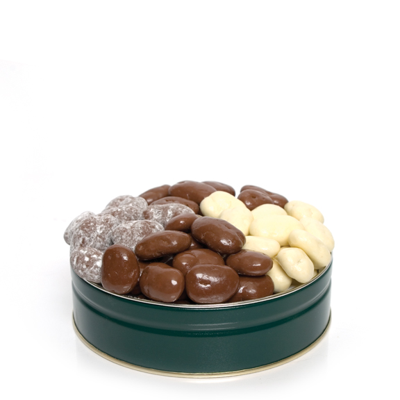 1 lb. Gift Tin with 4 Flavors of Chocolate Pecans