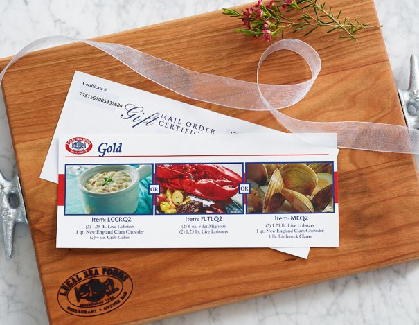 Choice of Meal Gift Certificate