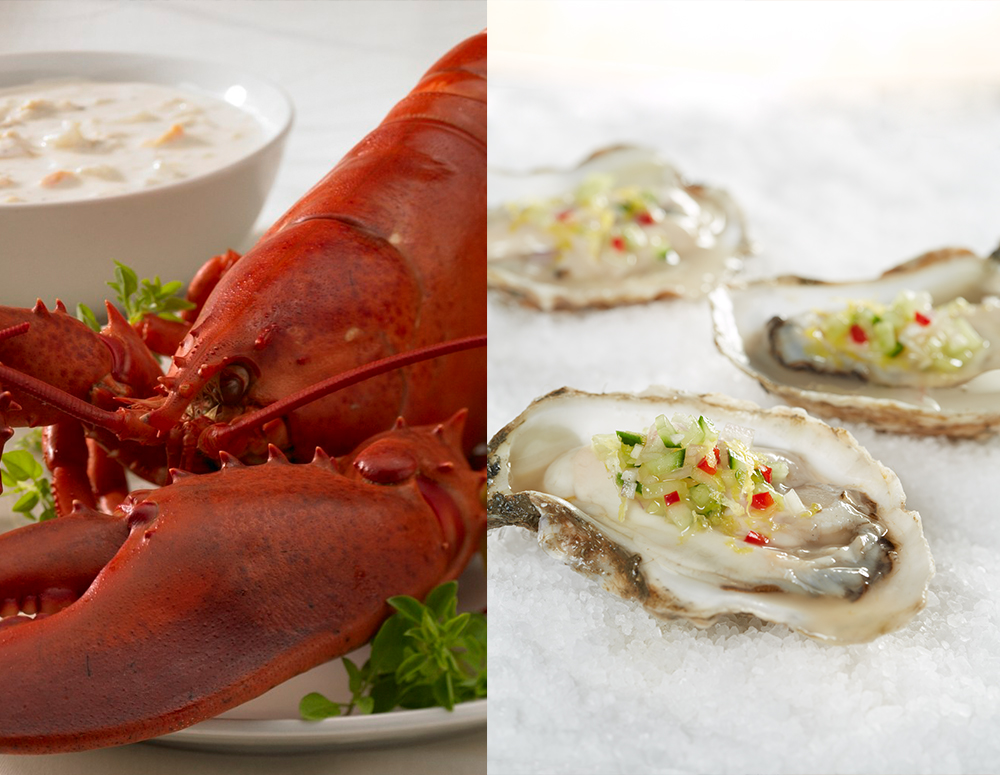 Lobster, Chowder, and Oysters