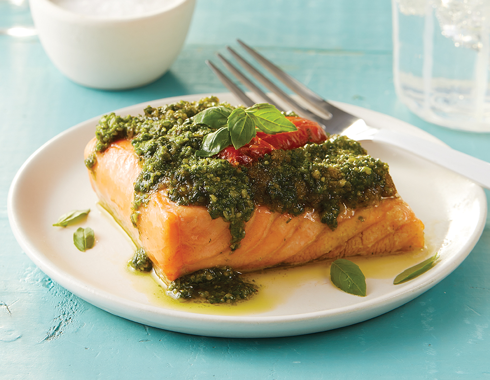 6 oz. Pesto Salmon- 6 pack