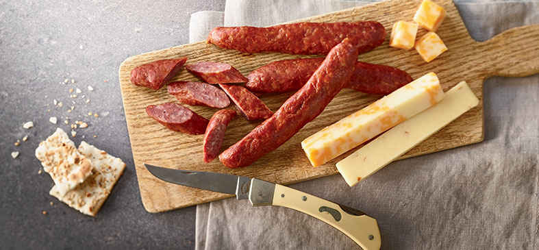 Organic Beef Landjaeger Sausage<p>Organic Prairie Landjaeger Beef Sausage is a convenient snack for your busy lifestyle.