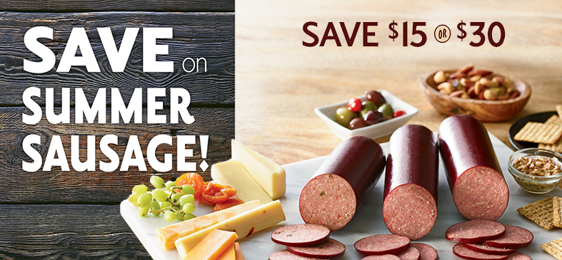Save on Organic Beef Summer Sausage Sampler<p>Three varieties of sausage are sure to please!