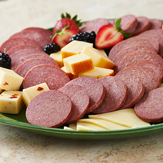 Organic beef Summer Sausage Slices - Half Price
