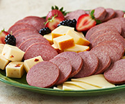 Organic beef Summer Sausage Slices - Half Price - Twenty - 6 oz. Beef Summer Sausage Slices