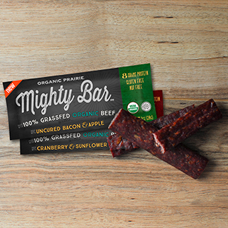 Organic Beef Mighty Bar, Bacon & Apple