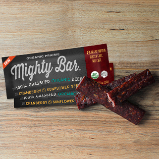 Organic Beef Mighty Bar, Cranberry & Sunflower Seed