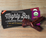 Organic Beef Mighty Bar, Sea Salt & Cracked Pepper - Twelve 1-oz. Organic Beef Mighty Bars, Sea Salt & Cracked Pepper