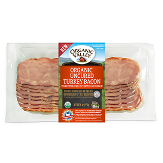 Organic Fresh to Frozen Hardwood Smoked Turkey Bacon