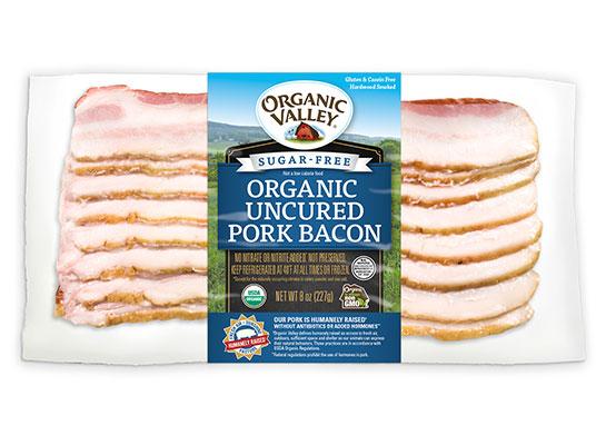 Organic Sugar-Free Fresh to Frozen Hardwood Smoked Bacon