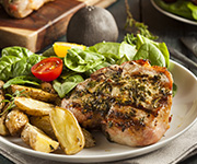 Organic Center Cut<br />Boneless Pork Chops - Three approx. 14-oz. pkgs. 3 Center Cut Boneless Pork Chops (9 Chops)