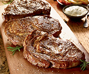 Premium Organic<br />Ribeye Steak - Four 10-oz. Premium Rib Eye Steaks