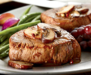 Premium Organic<br />Filet Mignon - Five 4-oz. Steaks