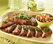 Premium Organic<br />New York Strip Steak - Four 10-oz.Steaks