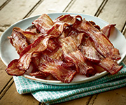 Organic Hardwood Smoked<br />Uncured Bacon - Ten  8-oz. pkgs. Hardwood Smoked Uncured Bacon ( 6-8 strips pr pkg.)