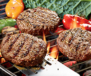 Premium Organic Steak Burger Patties - Four 2-lb. pkgs / 24 Steak Burger Patties