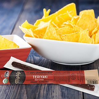 NEW! Organic Beef Mighty Sticks, Teriyaki
