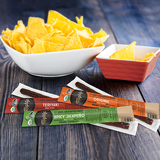 NEW! Mighty Organic Beef Sticks Snack Pack