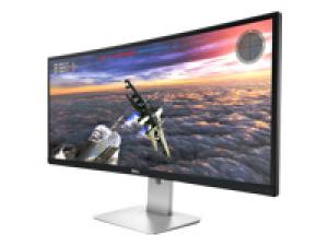 """Dell UltraSharp U3415W - LED monitor - curved - 34"""" (34"""" viewable) - 3440 x 1440 - IPS - 300 cd/m² - 1000:1 - 5 ms - 2xHDMI, DisplayPort, Mini DisplayPort, MHL - speakers - black (U3415W)"""