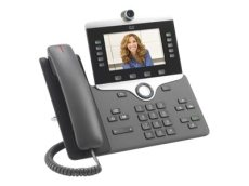 Cisco IP Phone 8845 - IP video phone - digital camera, Bluetooth interface - SIP, SDP - 5 lines - charcoal   (CP-8845-K9)