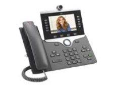 Cisco IP Phone 8865 - IP video phone - digital camera, Bluetooth interface - IEEE 802.11a/b/g/n/ac (Wi-Fi) - SIP, SDP - 5 lines - (CP-8865-K9)
