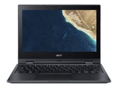 "Acer TravelMate Spin B1  - Flip design - Celeron N4100 / 1.1 GHz - Win 10 Pro 64-bit - 4 GB RAM - 128 GB SSD - 11.6"" IPS touchscreen 1920 x 1080 (Full HD) - UHD Graphics 600 - Wi-Fi, Bluetooth - black  (NX.VHRAA.002)"