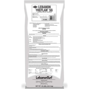 Treflan 5G - Herbicide - Active Ingredient Trifluralin - 40 Pound Bag