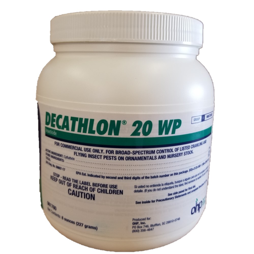 Decathlon 20 WP Greenhouse & Nursery Insecticide - 0.5 Pound Jar