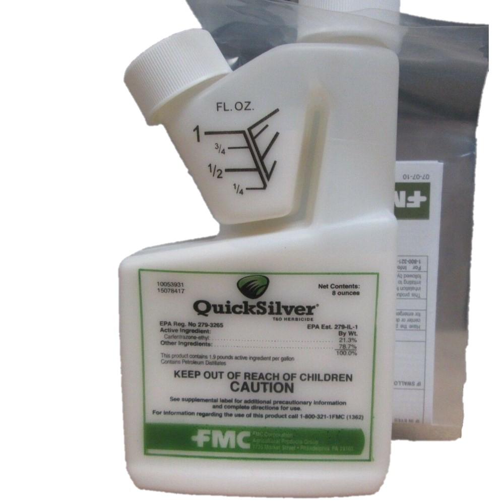 Quicksilver Turf & Ornamental Herbicide. Controls Broadleaf Weeds. Carfentrazone-ethyl 21.3%