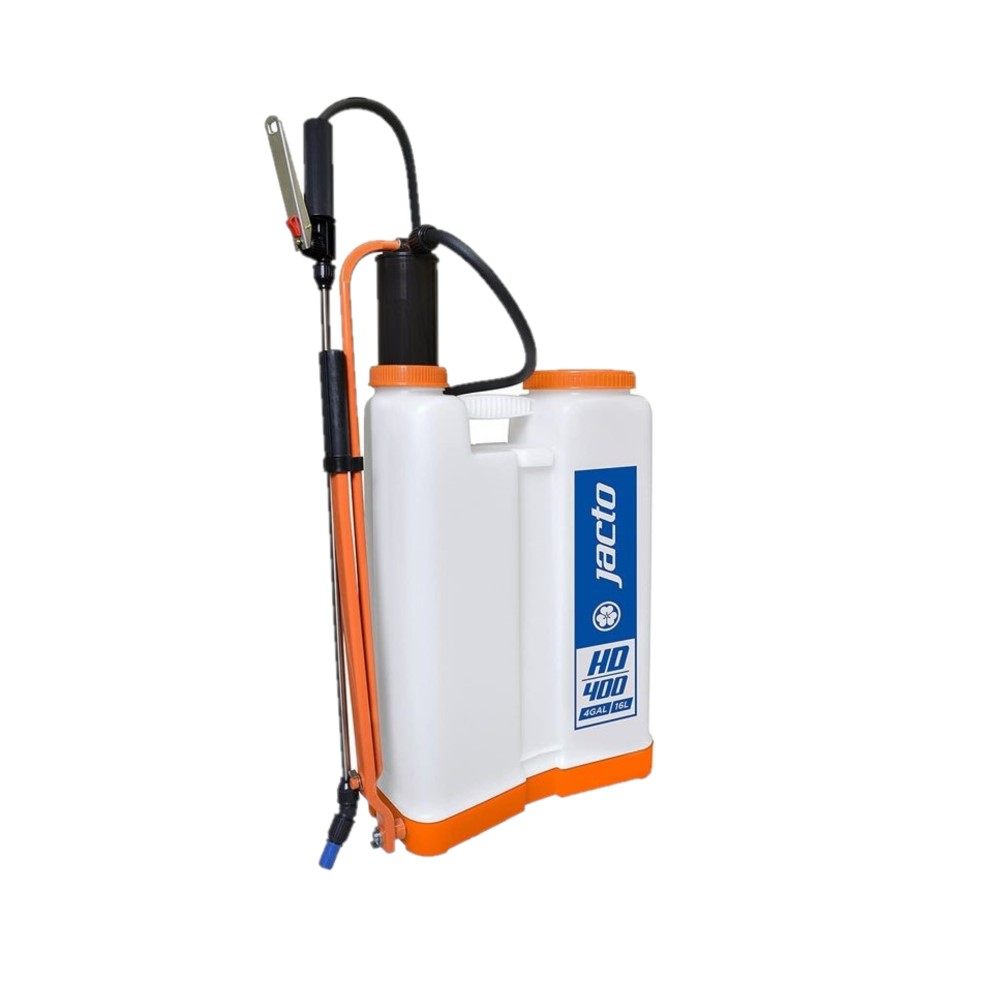 Jacto HD400 Backpack Sprayer, Professional Garden Sprayer, Perfect for Pesticide Control, Translucent White