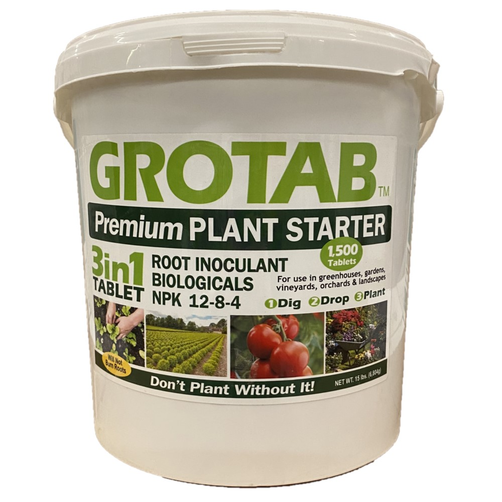 GROTAB Premium Plant Starter      NPK 12-8-4. 1500 Tablets