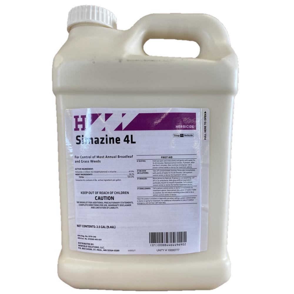 Simazine 4L 2.5 Gallon. Pre-Emergent Herbicide for Broadleaf and Grass Suppression