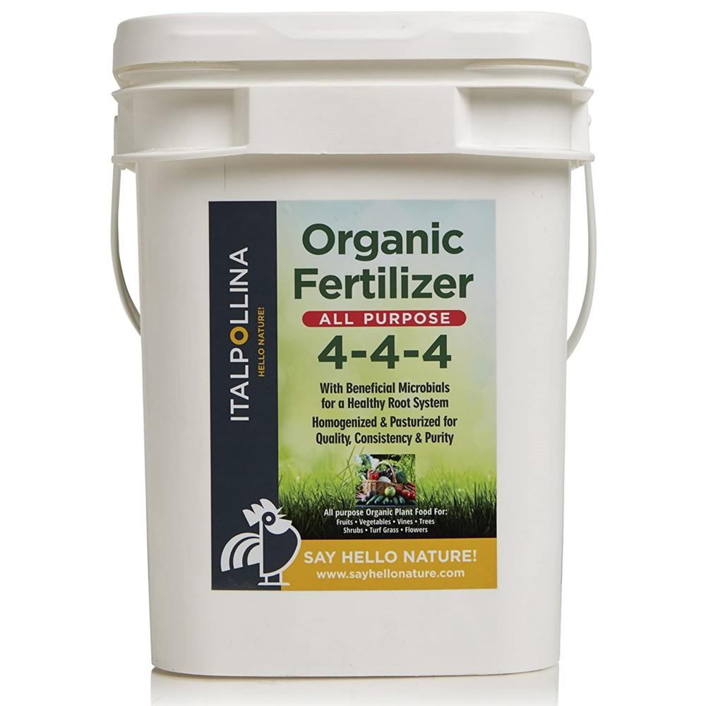 Italpollina 4-4-4 Organic All-Purpose Fertilizer, with Beneficial Microbials, 25 lb Bucket