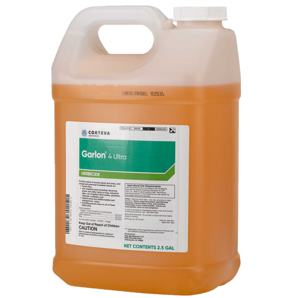 Garlon 4 Ultra Triclopyr herbicide for fence rows and more. 2.5 gallon