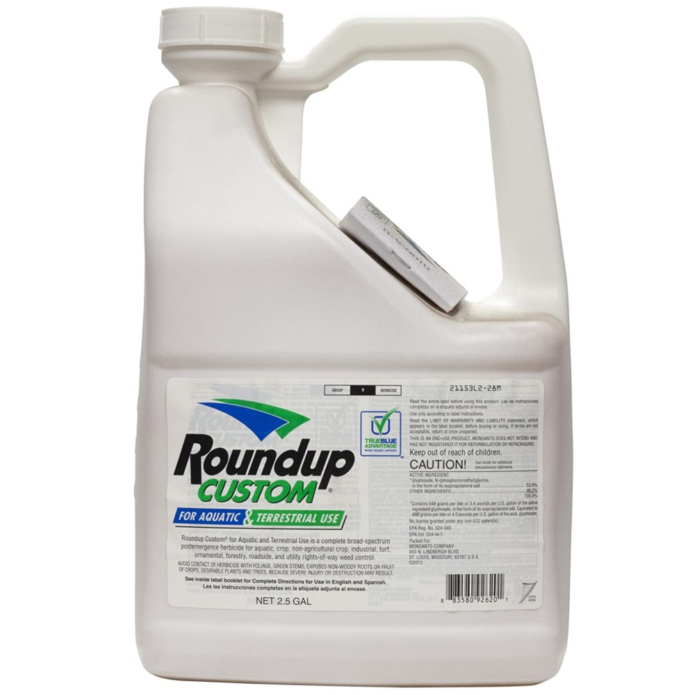 Roundup Custom 53.8% Glyphosate for Aquatic & Terrestrial Use 2.5 gallons