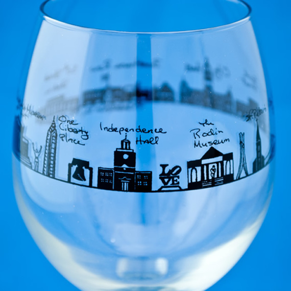 Philadelphia White Wine Glass
