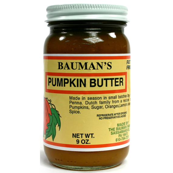 Bauman's Pumpkin Butter, 9 oz.