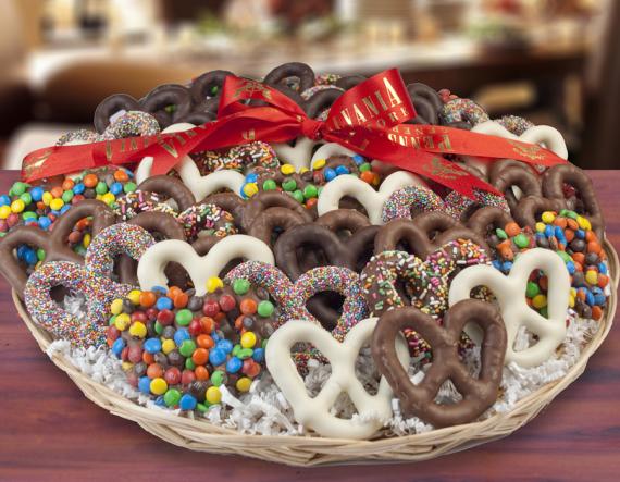 Chocolate Pretzel Tray 3 Lbs 10 Oz All Gifts