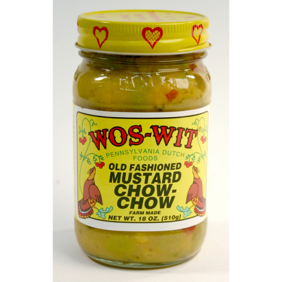 Wos Wit Mustard Chow Chow, 18 oz.