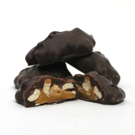 Asher's Dark Chocolate Pecan Caramel Pattie