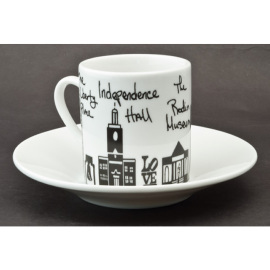 Philly Espresso Cup & Saucer