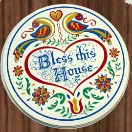 Bless This House- 15 inch Hex Sign