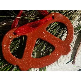 Redware Pretzel Ornament