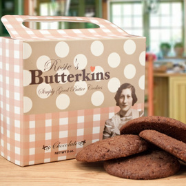 Rosie's Butterkins Chocolate Retro Box 5 oz