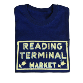 Reading Terminal Market Neon Sign T-Shirt