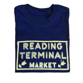 Reading Terminal Market Neon Sign T-Shirt